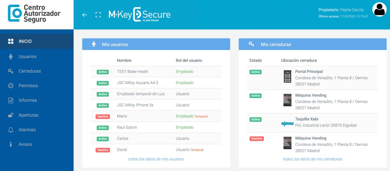 AlaiSecure - Vending: CAS - Plataforma web de autogestión